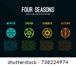 4 seasons icon sign in circle... | Shutterstock .eps vector #738224974
