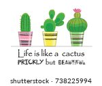 vector illustration of three ... | Shutterstock .eps vector #738225994