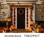 3d rendering. halloween... | Shutterstock . vector #738229417