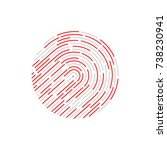 touch recognition | Shutterstock .eps vector #738230941