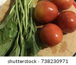 fresh vegetables for cook j... | Shutterstock . vector #738230971