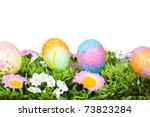 colorful easter eggs | Shutterstock . vector #73823284