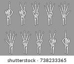 White Skeleton Number Hands