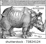 vector copy of a rhinoceros... | Shutterstock .eps vector #73824124