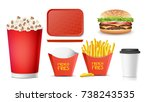 fast food icons set vector....   Shutterstock .eps vector #738243535