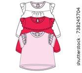 baby flat sketch template... | Shutterstock .eps vector #738245704