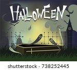 halloween background design and ...   Shutterstock .eps vector #738252445