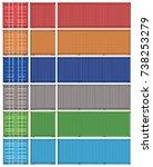 vector of green container cargo   Shutterstock .eps vector #738253279