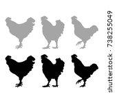 rooster silhouette  vector...   Shutterstock .eps vector #738255049