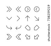 Miscellaneous arrows representing sign and symbols