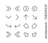miscellaneous arrows... | Shutterstock .eps vector #738259219