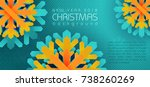 christmas background. new year...   Shutterstock .eps vector #738260269