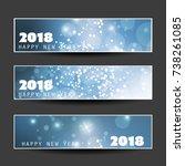 set of horizontal christmas ...   Shutterstock .eps vector #738261085