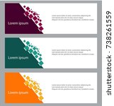 vector abstract design banner... | Shutterstock .eps vector #738261559