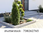 residential home with modern... | Shutterstock . vector #738262765