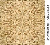 retro brown watercolor texture...   Shutterstock .eps vector #738265165