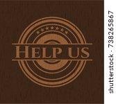 help us wooden signboards | Shutterstock .eps vector #738265867