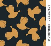geometric seamless pattern....   Shutterstock .eps vector #738267679