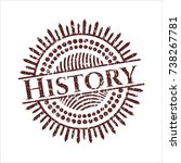red history distressed rubber...   Shutterstock .eps vector #738267781