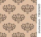wallpaper seamless pattern....   Shutterstock .eps vector #738269605