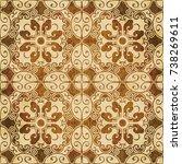 retro brown watercolor texture...   Shutterstock .eps vector #738269611