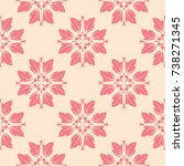 red and beige floral ornament....   Shutterstock .eps vector #738271345