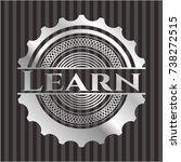 learn silvery shiny badge   Shutterstock .eps vector #738272515