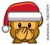 vector cartoon christmas emoji... | Shutterstock .eps vector #738273079