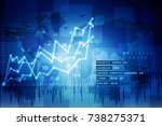 2d rendering stock market... | Shutterstock . vector #738275371