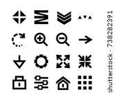 set of navigation menu icons....
