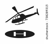 helicopter icon | Shutterstock .eps vector #738289315
