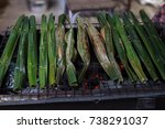candy from the grill on the... | Shutterstock . vector #738291037