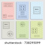 collection of sale banners ... | Shutterstock .eps vector #738295099