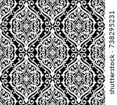 seamless damask pattern element ... | Shutterstock .eps vector #738295231