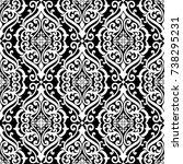 seamless damask pattern element ... | Shutterstock .eps vector #738295231