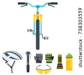 bicycle equipment vector icons. ... | Shutterstock .eps vector #738303559