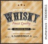 whisky label for bottle  ... | Shutterstock .eps vector #738308011