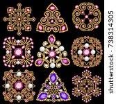 illustration set of jewelry... | Shutterstock .eps vector #738314305