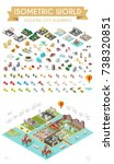 set of isometric high quality... | Shutterstock .eps vector #738320851
