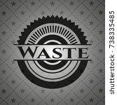 waste black emblem | Shutterstock .eps vector #738335485