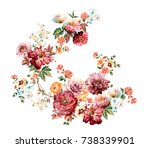 graceful flowers  the leaves... | Shutterstock . vector #738339901