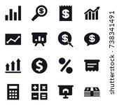16 vector icon set   graph ...   Shutterstock .eps vector #738341491