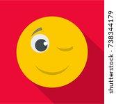 winks smile icon. vector flat...   Shutterstock .eps vector #738344179