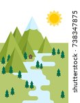 flat vector illustration with... | Shutterstock .eps vector #738347875