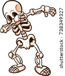 dabbing cartoon skeleton .... | Shutterstock .eps vector #738349327