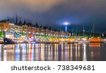 night view of stockholm... | Shutterstock . vector #738349681