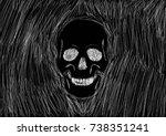 bone halloween | Shutterstock .eps vector #738351241