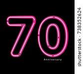 neon light effect celebrating ... | Shutterstock .eps vector #738352624