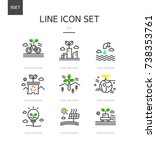 eco line icon set | Shutterstock .eps vector #738353761