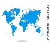 world map | Shutterstock .eps vector #738354151